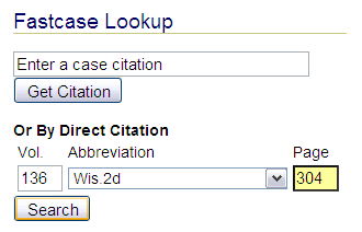 Fastcase lookup example from HeinOnline