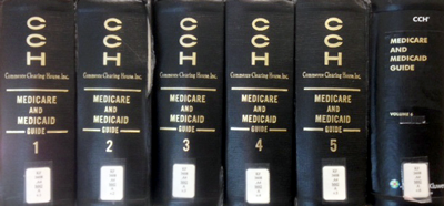 Medicare and medicaid book spines