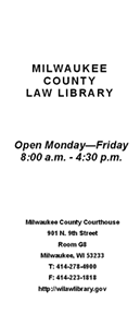 brochure - Milwaukee County Law Library