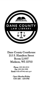 brochure - Dane County Law Library