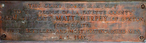 Lafayette County Courthouse Sign