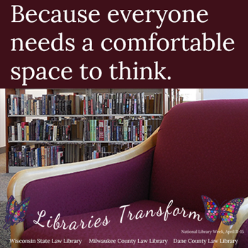 photo of a chair and books with caption Because everyone needs a comfortable space to think