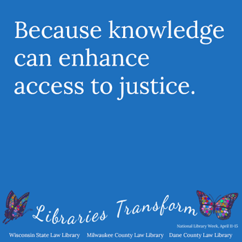 caption reads Because knowledge can enhance access to justice