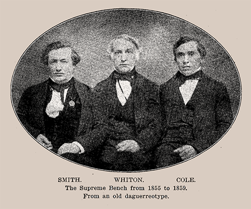 Three early Supreme Court justices pictured from Story of a Great Court