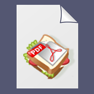 SandwhichPDF logo and file icon