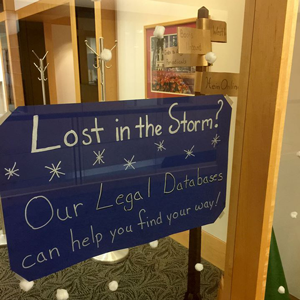 signs in library