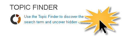 Topic Finder on home page