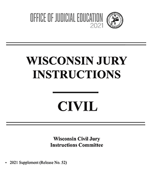 Wisconsin Civil Jury Instructions cover sheet