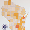 WI state map