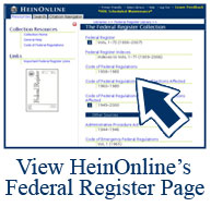 HeinOnline Federal Register Screenshot