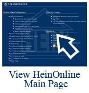 HeinOnline Main Page Screenshot