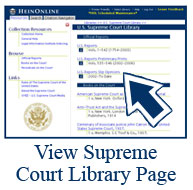 HeinOnline Supreme Court Library Screenshot